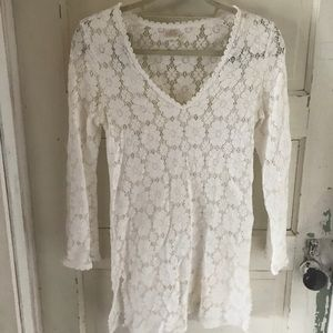 White lace floral Milly dress size M
